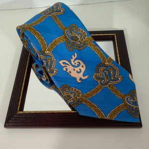 "F. Rvnci mens tie Blue tan 4""x55"" Rome"
